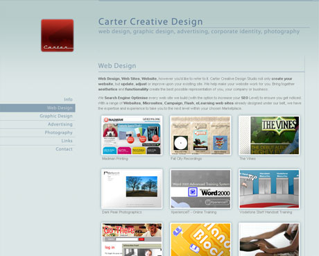 Carter Creative Design - Web Design